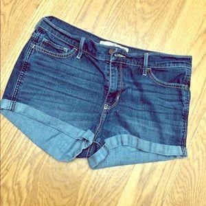 Hollister short-short high rise jean shorts